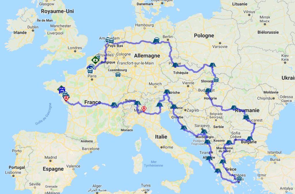 Map Europ Raid 2019